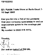 Premium rate fax scam targets PLASA exhibitors