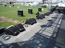 EAW MicroWedges rock Coachella 2009