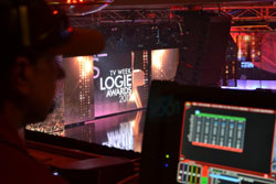 Showtech on stage at the Logies